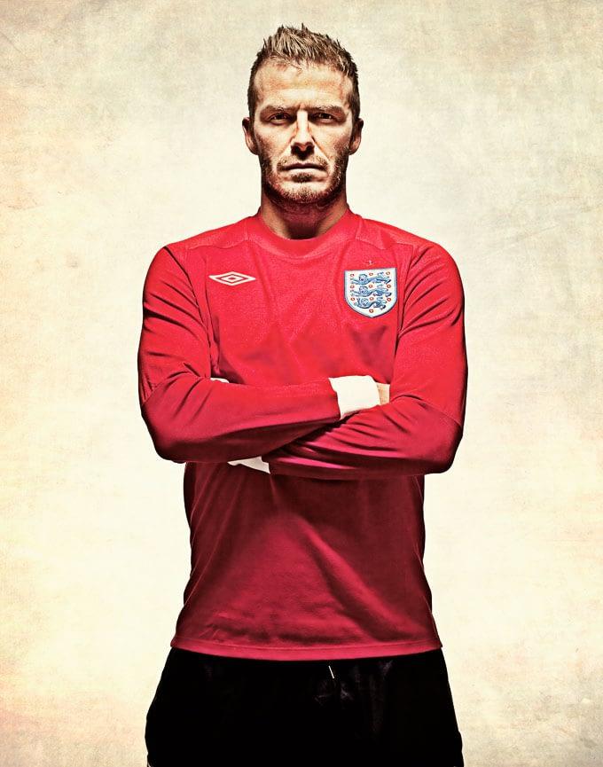 Portrait Retouching, David Beckham photographed by Ranald Mackechnie